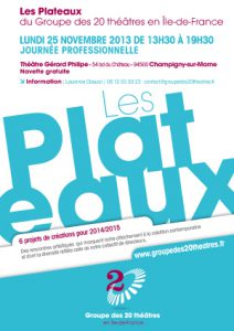 Plaquette Plateaux : Edition 2013